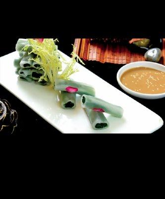 水晶菠菜卷